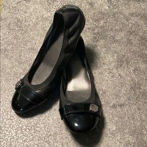 Coach black ballet flats size 8
